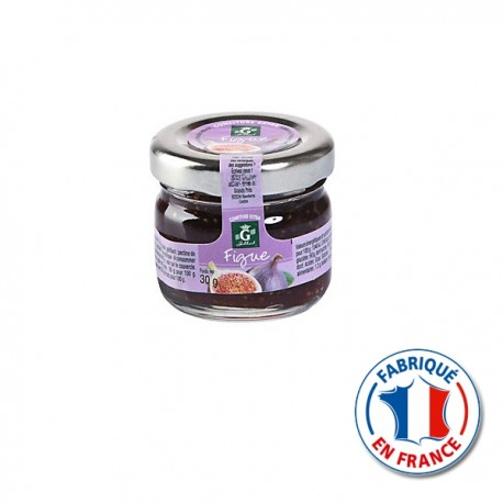 Mini pot Confiture de Figues Gilbert individuel 30gr