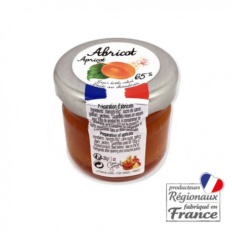 Confiture à l'Abricot Lucien Georgelin Mini pot 28gr.