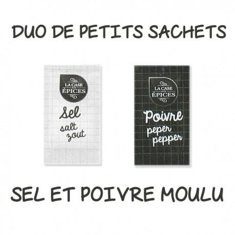 Duo de Petits Sachets de Sel et Poivre Moulu