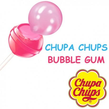 Sucette Chupa Chups goût cerise fourrées bubble gum