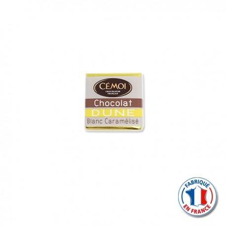 Mini Tablette Chocolat Blanc Caramélisée Dune CEMOI