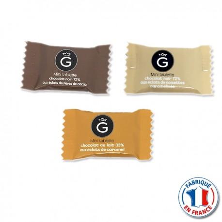 Mini Tablette chocolat Noir 72% accompagnement Café