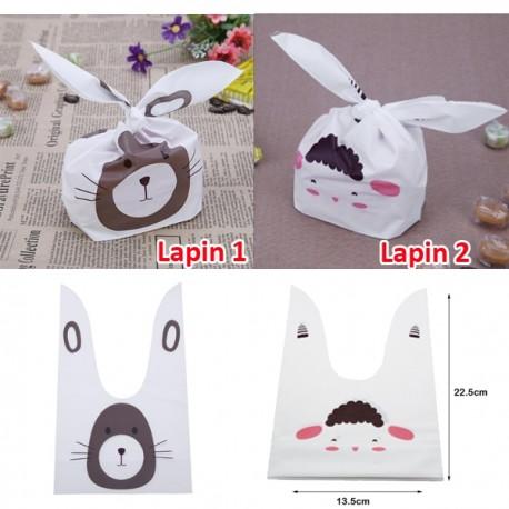 Petits Sacs Emballage Pâques avec Oreilles de lapin