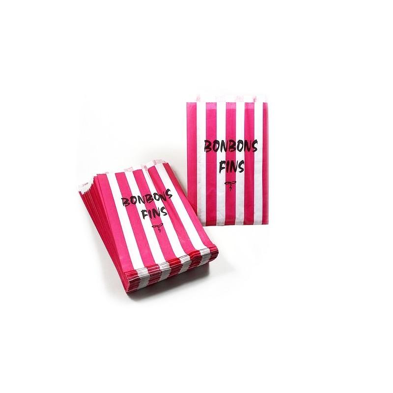 sachet en papier type servez vous rose et blanc ces. Black Bedroom Furniture Sets. Home Design Ideas
