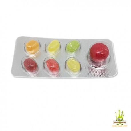 Blister de bonbons type plaquette de médicaments Super Van