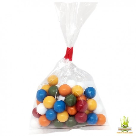 Billes de chewing-gum MINI multicolores Sachet de 100gr.