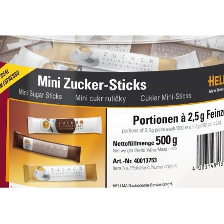 Mini stick de sucre en poudre Hellma 2.5gr