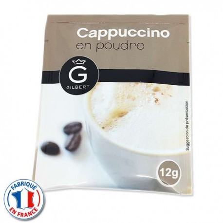 Cappuccino en sachet dosette 12gr. Gilbert en sachet