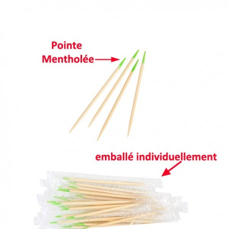 Cure-Dents Mentholé Premium emballé individuellement