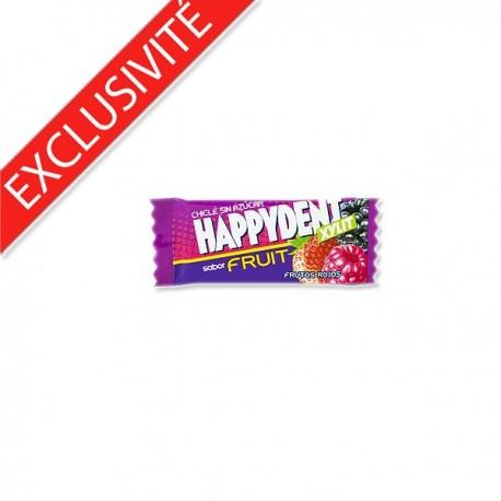 Chewing-gum sans sucre Fruits des Bois sachet individuel HappyDent