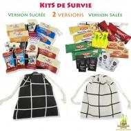 Kits Survie Rentrée Sucré/Salé dans un Sac à Carreaux
