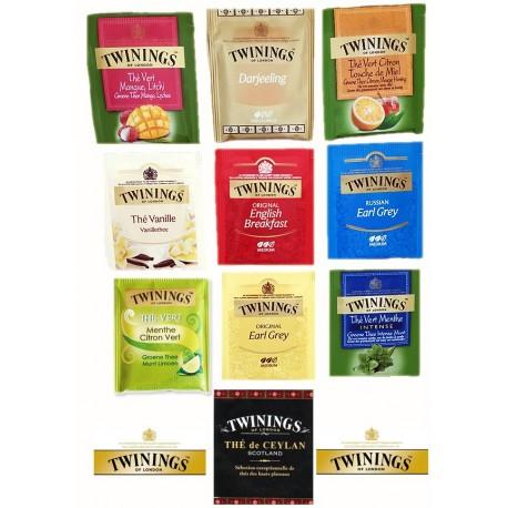 Assortiment de 10 sachets de thé Twinings