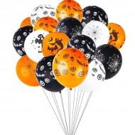 Ballons HALLOWEEN en latex Divers Décors Citrouille, Araignée...