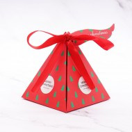 Boîte Pyramide Chocolats Décor Sapin De Noël
