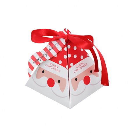 Boîte Pyramide Chocolats Décor Père-Noël