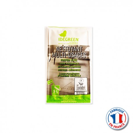 Sachet Nettoyant Multi-usages dose IDEGREEN Ecolabel 20ml