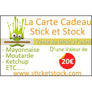 Carte Cadeau de 20€ Chez Stick et Stock