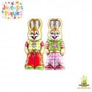 Duo de Lapins en chocolat RIEGELEIN pour Pâques