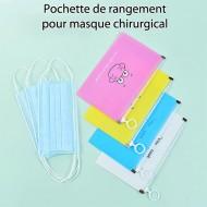 Pochette de Rangement pour Masque Jetable Chirurgicale