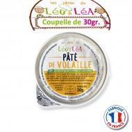 Pâté de volaille Léo et Léa en portion individuelle 30gr.