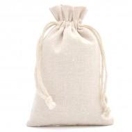 Sac de rangement toilette en tissu en pur coton 15x20cm