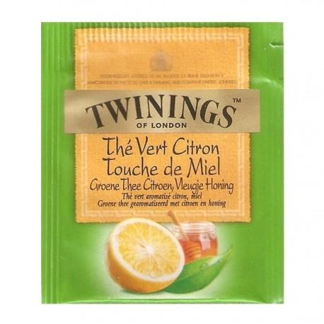 Sachet de thé Vert Citron touche de Miel Twinings