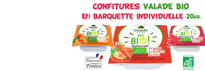 Barquette Confitures VALADE Bio 20gr