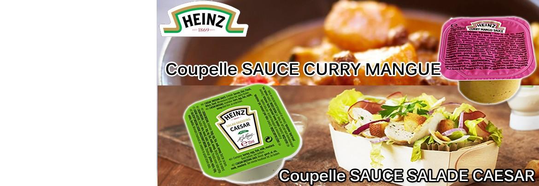 Les Coupelles de sauces Heinz