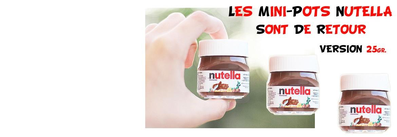 Les Mini-Pots de Nutella