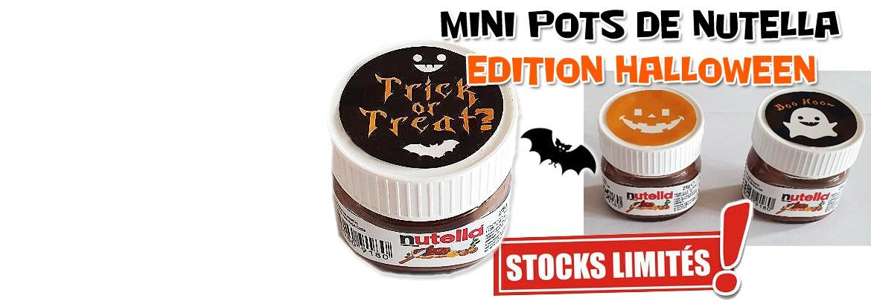 Mini pots de Nutella Halloween